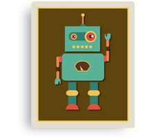 Fun Retro Robot Art Canvas Print