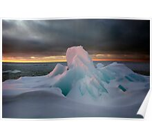 First Light, Lake Superior Poster