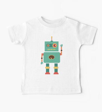 Fun Retro Robot Art Baby Tee