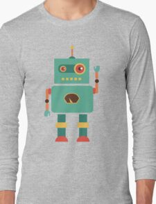 Fun Retro Robot Art Long Sleeve T-Shirt