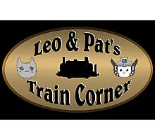 Leo & Pat's Train Corner Logo Photographic Print