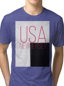 NEW JERSEY USA Tri-blend T-Shirt