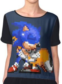 Sonic and Tails - Hugs Chiffon Top