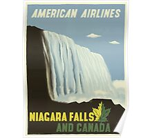 Niagara Falls And Canada American Airlines Vintage Travel Poster Poster