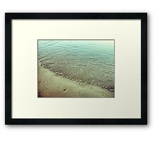 Abstract rippled water Framed Print
