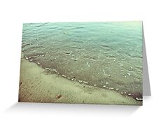Abstract rippled water Greeting Card