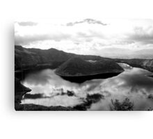 Clouds Reflected in Lake Cuicocha Canvas Print