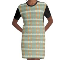 Reflections Green/Orange Graphic T-Shirt Dress