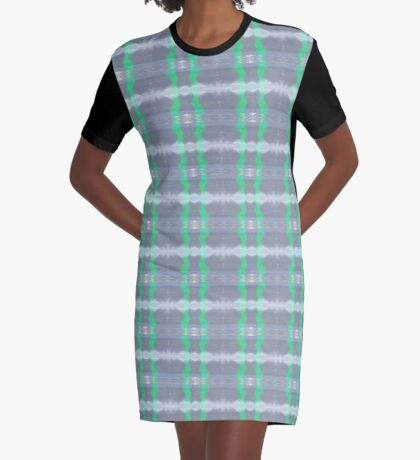 Reflections Blue Graphic T-Shirt Dress