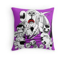 OFF purple Throw Pillow