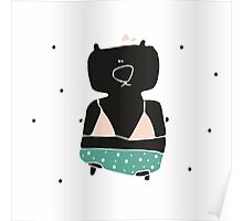Teddy Bear in a swimming suit Poster