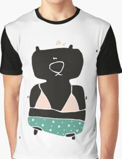 Teddy Bear in a swimming suit Graphic T-Shirt