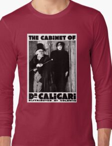 Caligari Poster b/w with lettering Long Sleeve T-Shirt
