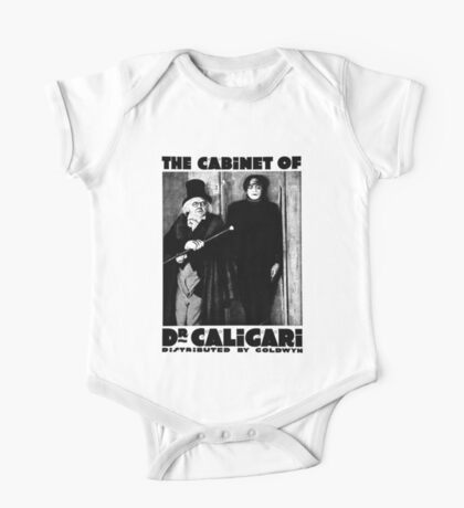 Caligari Poster b/w with lettering One Piece - Short Sleeve