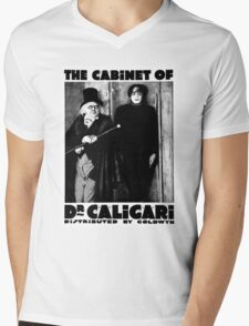 Caligari Poster b/w with lettering Mens V-Neck T-Shirt