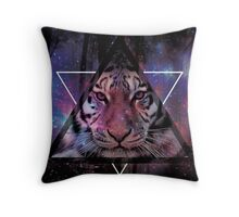 Wood Tiger Throw Pillow