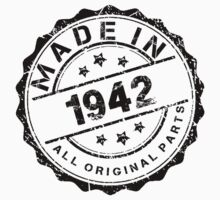 MADE IN 1942 ALL ORIGINAL PARTS by smrdesign