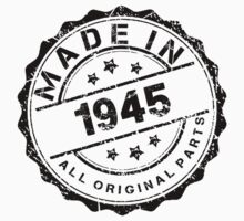 MADE IN 1945 ALL ORIGINAL PARTS by smrdesign