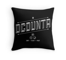 DCOUNTA Throw Pillow