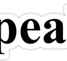 I Speak English Sticker
