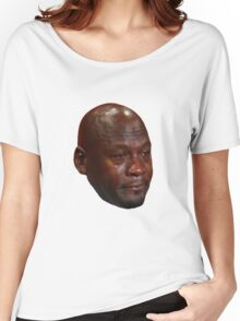 High Quality Crying Jordan Women's Relaxed Fit T-Shirt