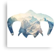 Elder Scrolls - Helmet - Ice Mountains Canvas Print