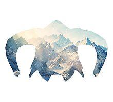 Elder Scrolls - Helmet - Ice Mountains Photographic Print