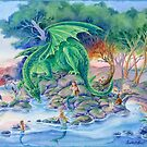 Of Air and Sea - Dragon and Mermaids fantasy art by meredithdillman