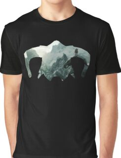 Elder Scrolls - Helmet - Mountains Graphic T-Shirt
