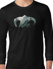 Elder Scrolls - Helmet - Mountains Long Sleeve T-Shirt