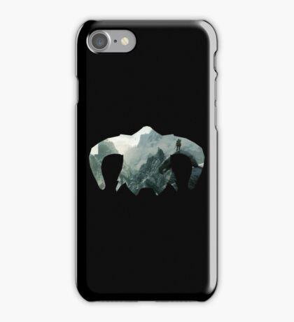 Elder Scrolls - Helmet - Mountains iPhone Case/Skin