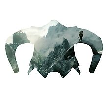 Elder Scrolls - Helmet - Mountains Photographic Print