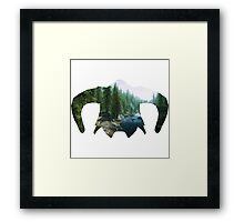 Elder Scrolls - Helmet - Greenery Framed Print