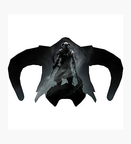 Elder Scrolls - Helmet - Dragonborn Photographic Print