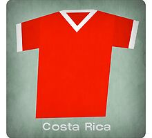 Retro Football Jersey Costa Rica by Daviz Industries