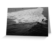 Surfer Catches Wave Greeting Card