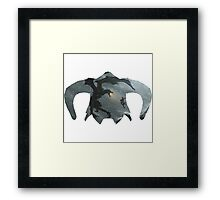 Elder Scrolls - Helmet - Dragon Battle Framed Print