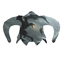 Elder Scrolls - Helmet - Dragon Battle Photographic Print