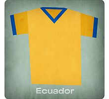 Retro Football Jersey Ecuador by Daviz Industries