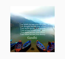 Gandhi Wisdom Saying About Destiny With Mountain View Unisex T-Shirt
