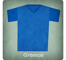 Retro Football Jersey Greece by Daviz Industries