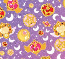Sailor Moon Locket Pattern Case by boundbyribbon