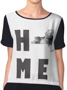 "New York ""HOME"" Chiffon Top"