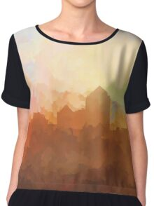 Albuquerque skyline - In the clouds Chiffon Top