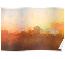 Albuquerque skyline - In the clouds Poster