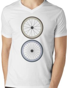 Fixie Two wheels Mens V-Neck T-Shirt