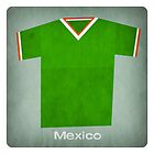 Retro Football Jersey Mexico by Daviz Industries