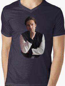 Sebastian Stan Mens V-Neck T-Shirt