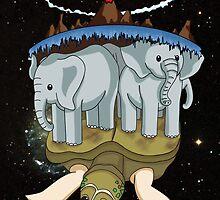 Discworld - In the Beginning by littlebearart