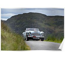 The Three Castles Welsh Trial 2014 - Healey 3000 MK111 Poster